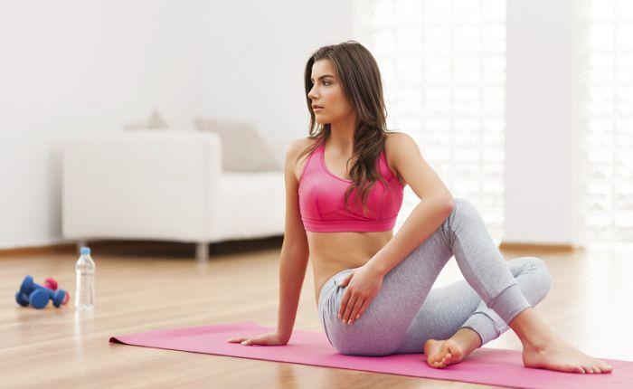 Скручивание йога